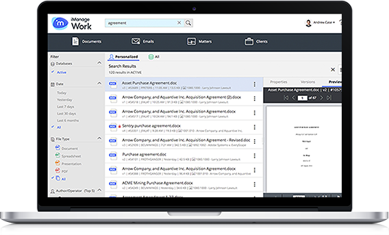 iManage Email and Document Work 10 and Share
