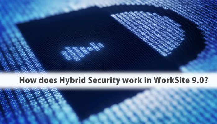 How does Hybrid Security work in WorkSite 9.x?